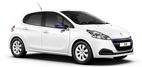 Noleggio-auto-breve-termine-jesolo-auto-nbt-Peugeot-208